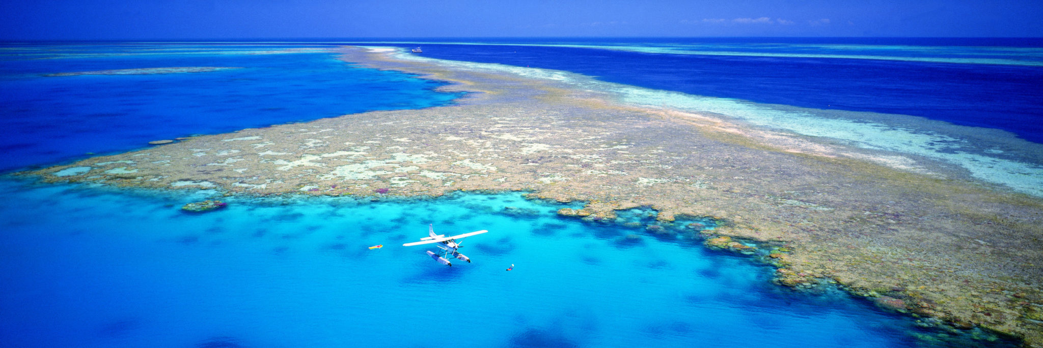 Aerial View of Hardy Reef Great Barrier Reef